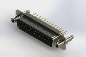 627-M25-220-LT6 - Vertical Machined D-Sub Connectors