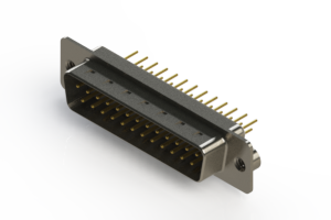 627-M25-220-WN2 - Vertical Machined D-Sub Connectors