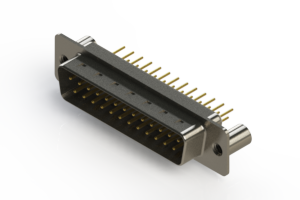 627-M25-220-WN3 - Vertical Machined D-Sub Connectors