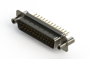 627-M25-220-WN4 - Vertical Machined D-Sub Connectors