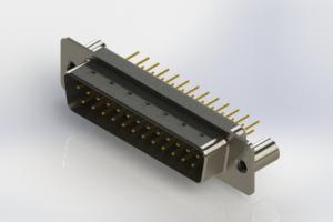 627-M25-220-WT3 - Vertical Machined D-Sub Connectors