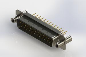 627-M25-220-WT4 - Vertical Machined D-Sub Connectors