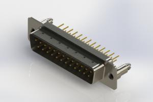 627-M25-220-WT5 - Vertical Machined D-Sub Connectors