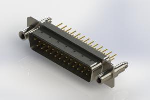 627-M25-220-WT6 - Vertical Machined D-Sub Connectors