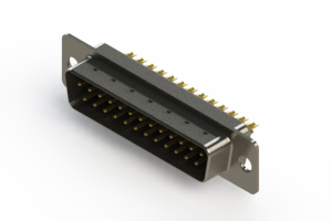 627-M25-222-BN1 - Vertical Machined D-Sub Connectors