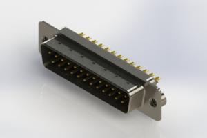 627-M25-222-BN2 - Vertical Machined D-Sub Connectors