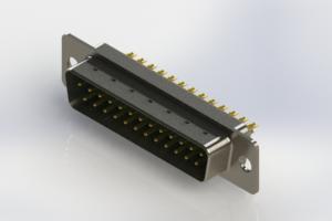627-M25-222-GN1 - Vertical Machined D-Sub Connectors