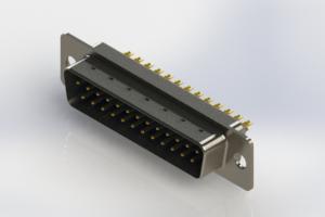 627-M25-222-LN1 - Vertical Machined D-Sub Connectors
