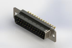 627-M25-222-LT1 - Vertical Machined D-Sub Connectors