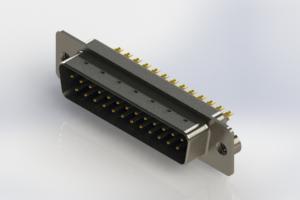 627-M25-222-LT2 - Vertical Machined D-Sub Connectors