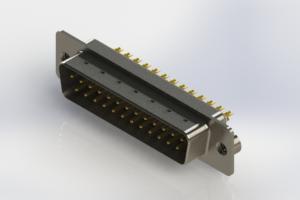 627-M25-222-WT2 - Vertical Machined D-Sub Connectors