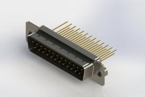 627-M25-223-BN2 - Vertical Machined D-Sub Connectors