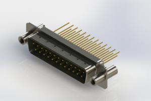 627-M25-223-GT4 - Vertical Machined D-Sub Connectors