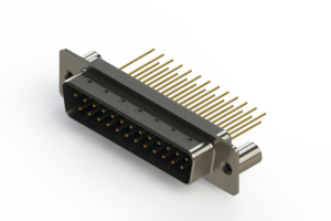 627-M25-223-LN3 - Vertical Machined D-Sub Connectors