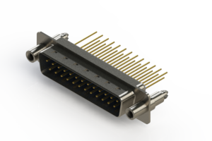 627-M25-223-LN6 - Vertical Machined D-Sub Connectors