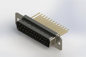 627-M25-223-LT1 - Vertical Machined D-Sub Connectors