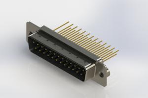 627-M25-223-LT2 - Vertical Machined D-Sub Connectors