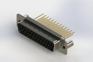 627-M25-223-LT3 - Vertical Machined D-Sub Connectors