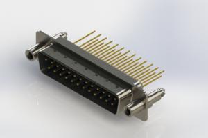 627-M25-223-LT6 - Vertical Machined D-Sub Connectors