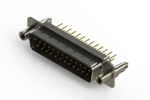 627-M25-320-BN6 - Vertical Machined D-Sub Connectors