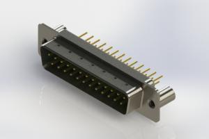627-M25-320-GT3 - Vertical Machined D-Sub Connectors