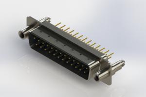 627-M25-320-LT6 - Vertical Machined D-Sub Connectors