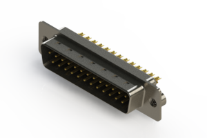 627-M25-322-BN2 - Vertical Machined D-Sub Connectors