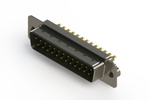 627-M25-322-GT2 - Vertical Machined D-Sub Connectors