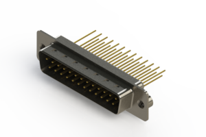 627-M25-323-BN2 - Vertical Machined D-Sub Connectors