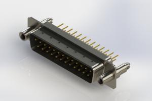 627-M25-620-BT6 - Vertical Machined D-Sub Connectors