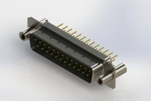 627-M25-620-GN4 - Vertical Machined D-Sub Connectors