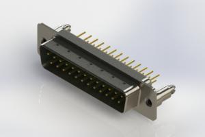 627-M25-620-GT5 - Vertical Machined D-Sub Connectors