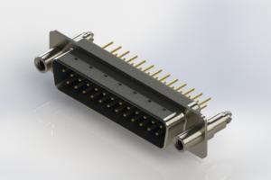 627-M25-620-LN6 - Vertical Machined D-Sub Connectors