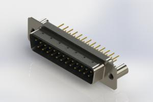 627-M25-620-LT3 - Vertical Machined D-Sub Connectors