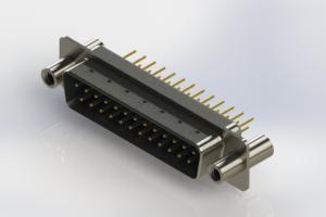 627-M25-620-LT4 - Vertical Machined D-Sub Connectors