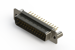 627-M25-620-WN3 - Vertical Machined D-Sub Connectors