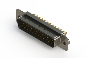 627-M25-622-WN2 - Vertical Machined D-Sub Connectors