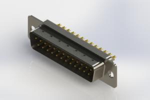 627-M25-622-WT1 - Vertical Machined D-Sub Connectors