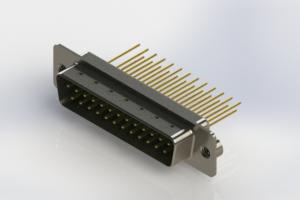 627-M25-623-GT2 - Vertical Machined D-Sub Connectors