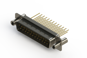 627-M25-623-WN4 - Vertical Machined D-Sub Connectors