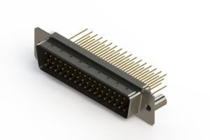 627-M50-623-BN3 - Vertical Machined D-Sub Connectors