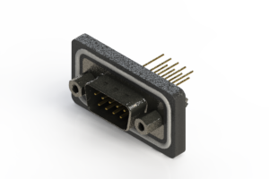 627-W09-221-013 - Vertical Waterproof D-Sub Connector