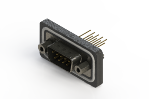 627-W09-321-013 - Vertical Waterproof D-Sub Connector
