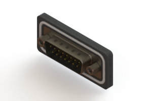 627-W15-220-012 - Vertical Waterproof D-Sub Connector