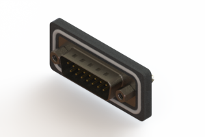 627-W15-220-013 - Vertical Waterproof D-Sub Connector