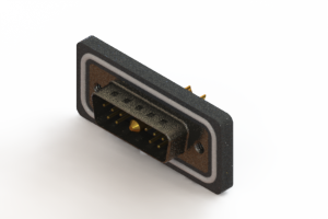 627W11W1222-4N2 - Vertical Waterproof Power Combo D-Sub Connector