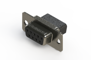 628-009-010-041 - Vertical Metal Body D-Sub Connector