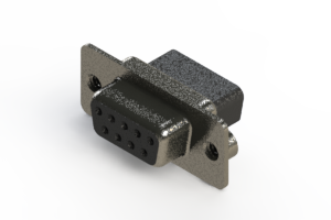 628-009-010-042 - Vertical Metal Body D-Sub Connector