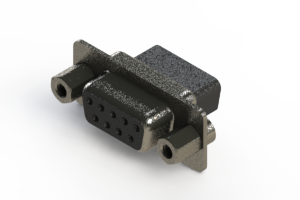 628-009-010-243 - Vertical Metal Body D-Sub Connector