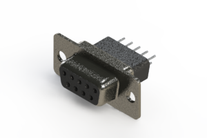 628-009-221-051 - Vertical Metal Body D-Sub Connector